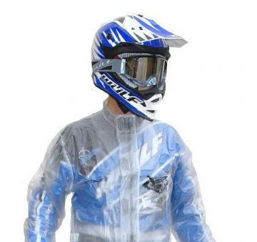 WULFSPORT 2 PIECE WET WEATHER SUIT IN CLEAR PVC